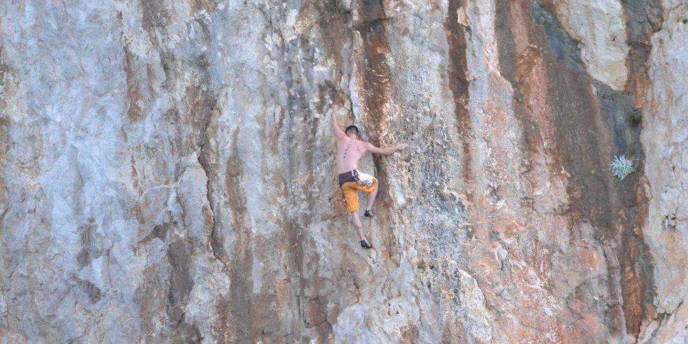 Jürgen beim Klettern