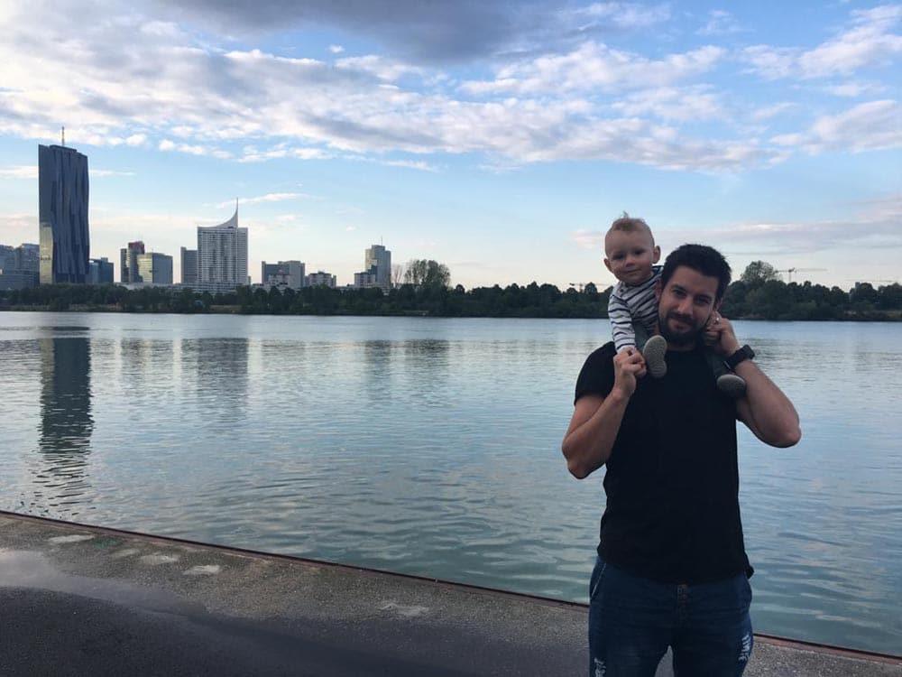 Jürgen mit seinem Kind
