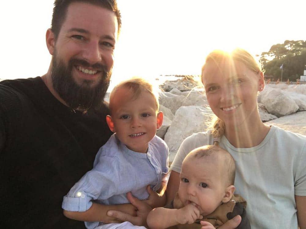 Jürgen mit seiner Familie